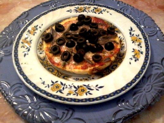 Pizza con impasto di cavolfiore